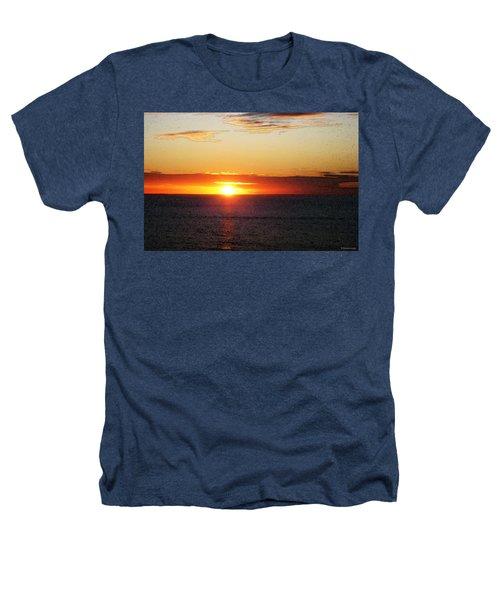 Sunset Painting - Orange Glow Heathers T-Shirt