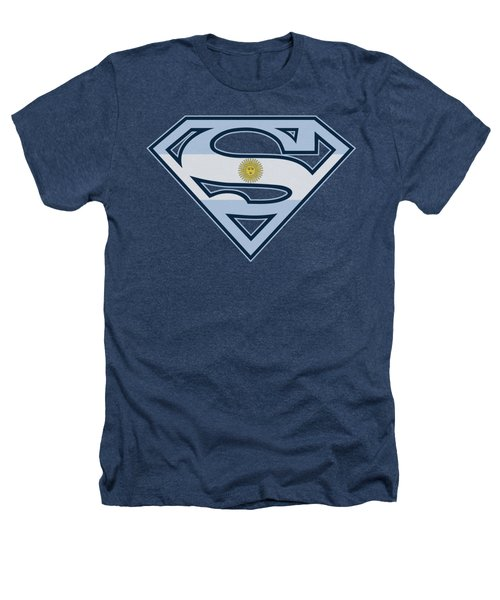 Superman - Argentinian Shield Heathers T-Shirt