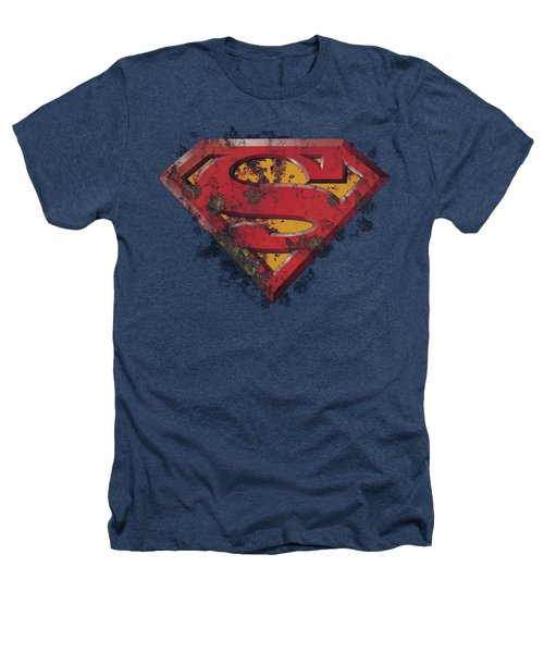 Superman - Rusted Shield Heathers T-Shirt