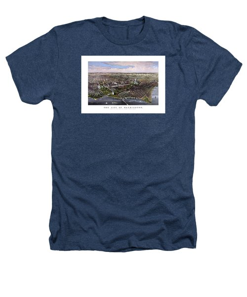 The City Of Washington Birds Eye View Heathers T-Shirt