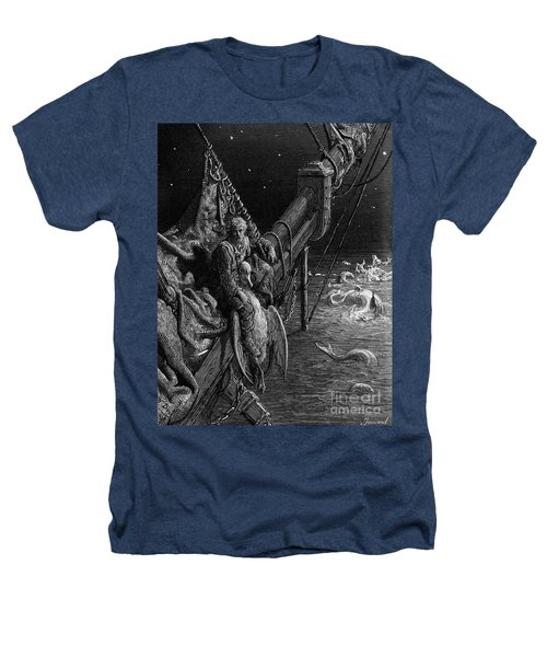 The Mariner Gazes On The Serpents In The Ocean Heathers T-Shirt by Gustave Dore