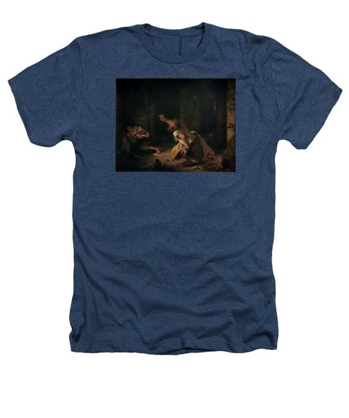 The Prisoner Of Chillon Heathers T-Shirt by Ferdinand Victor Eugene Delacroix