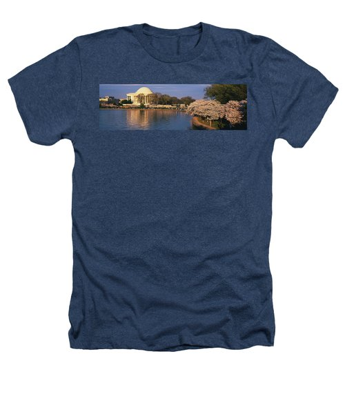 Tidal Basin Washington Dc Heathers T-Shirt by Panoramic Images