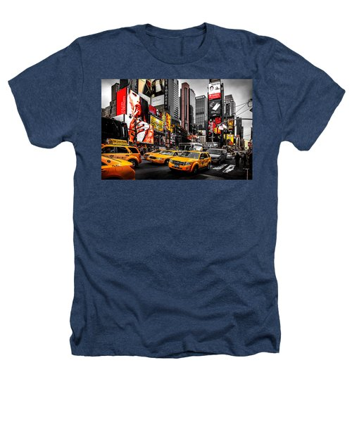 Times Square Taxis Heathers T-Shirt by Az Jackson