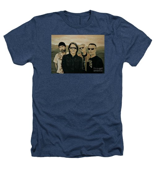 U2 Silver And Gold Heathers T-Shirt by Paul Meijering
