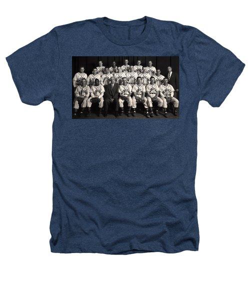 University Of Michigan - 1953 College Baseball National Champion Heathers T-Shirt by Mountain Dreams