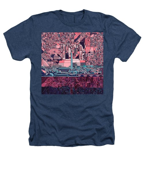 Washington Dc Skyline Abstract 2 Heathers T-Shirt