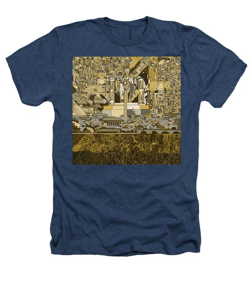 Washington Dc Skyline Abstract 4 Heathers T-Shirt