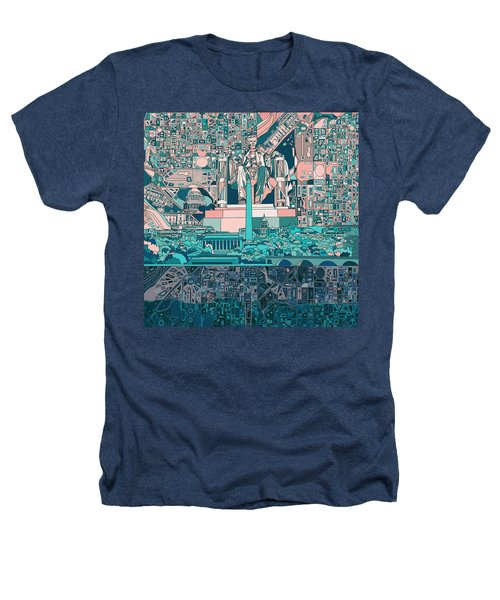 Washington Dc Skyline Abstract 5 Heathers T-Shirt