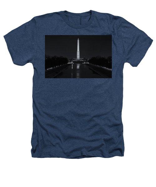 Washington Monument At Night Heathers T-Shirt