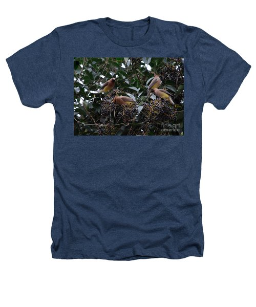 Wax Wings Supper  Heathers T-Shirt by Skip Willits
