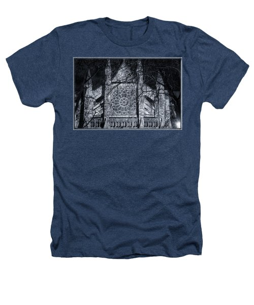 Westminster Abbey North Transept Heathers T-Shirt by Joan Carroll