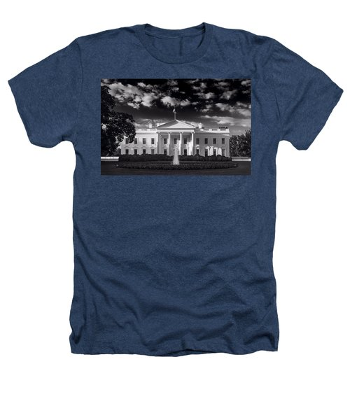 White House Sunrise B W Heathers T-Shirt by Steve Gadomski
