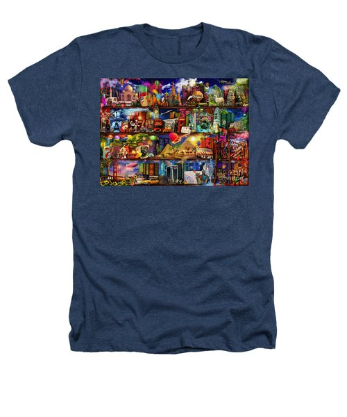 World Travel Book Shelf Heathers T-Shirt by Aimee Stewart