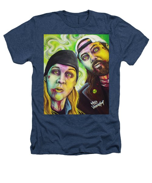 Zombie Jay And Silent Bob Heathers T-Shirt by Mike Vanderhoof