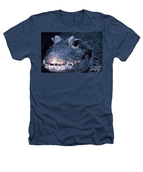African Dwarf Crocodile Heathers T-Shirt by Dante Fenolio