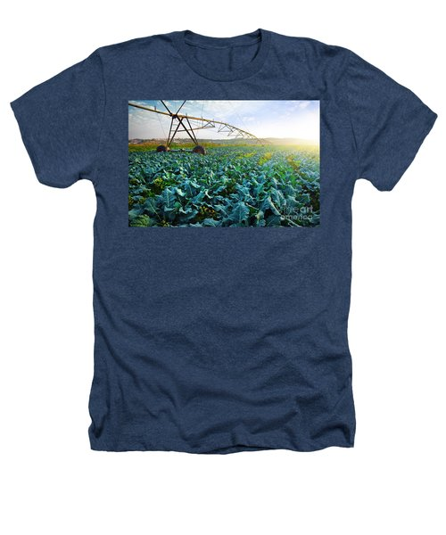 Cabbage Growth Heathers T-Shirt by Carlos Caetano