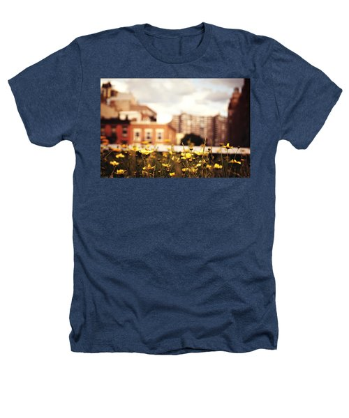 Flowers - High Line Park - New York City Heathers T-Shirt by Vivienne Gucwa