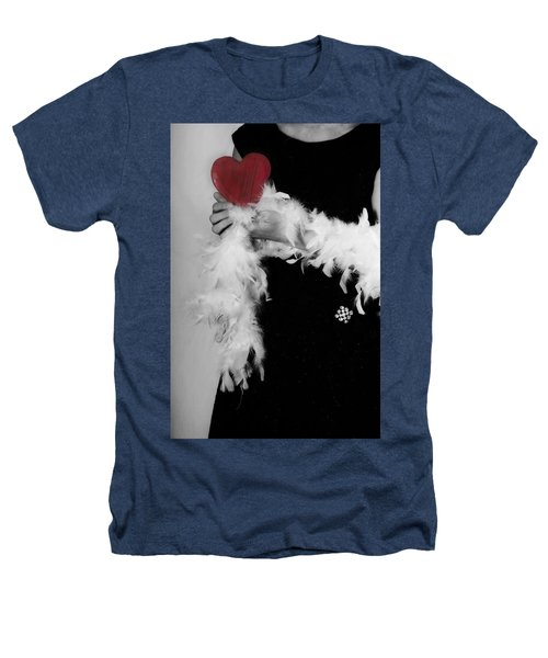 Lady With Heart Heathers T-Shirt
