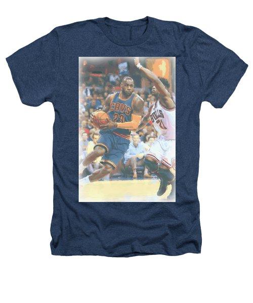 Cleveland Cavaliers Lebron James 2 Heathers T-Shirt by Joe Hamilton