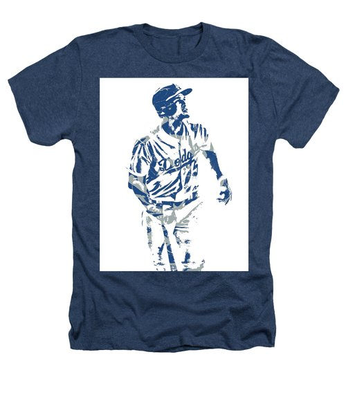 Corey Seager Los Angeles Dodgers Pixel Art 10 Heathers T-Shirt