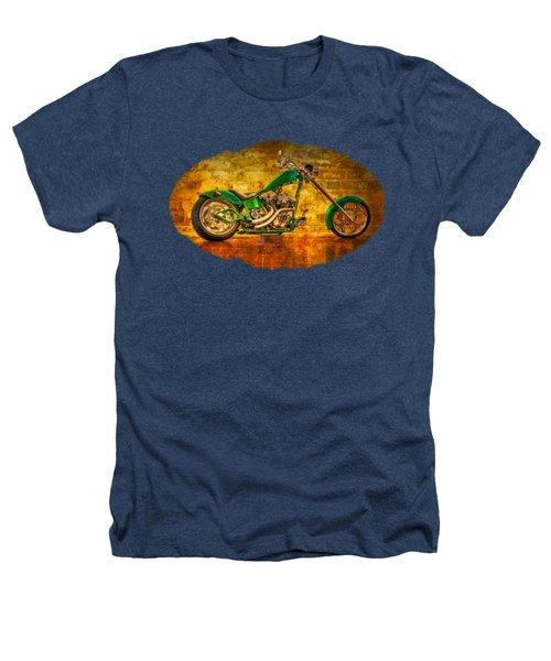 Green Chopper Heathers T-Shirt by Debra and Dave Vanderlaan