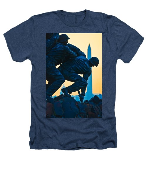 Iwo Jima Memorial At Dusk Heathers T-Shirt