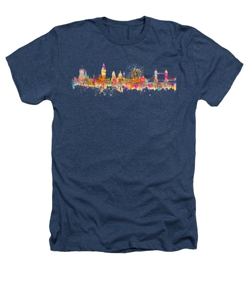 London Skyline Watercolor Heathers T-Shirt