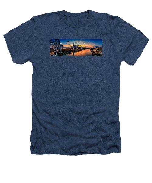 Nashville Skyline Panorama Heathers T-Shirt by Brett Engle