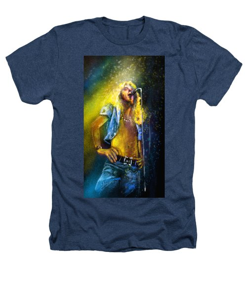 Robert Plant 01 Heathers T-Shirt by Miki De Goodaboom