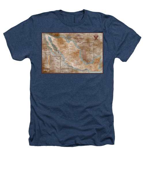 Mexico Surf Map  Heathers T-Shirt