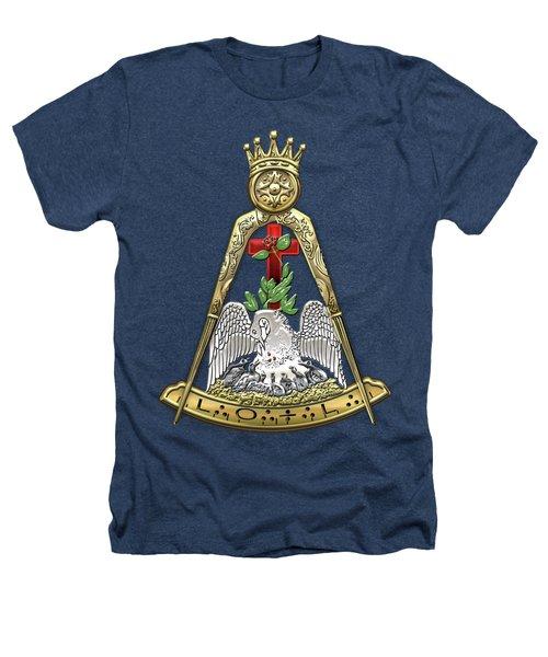 18th Degree Mason - Knight Rose Croix Masonic Jewel  Heathers T-Shirt
