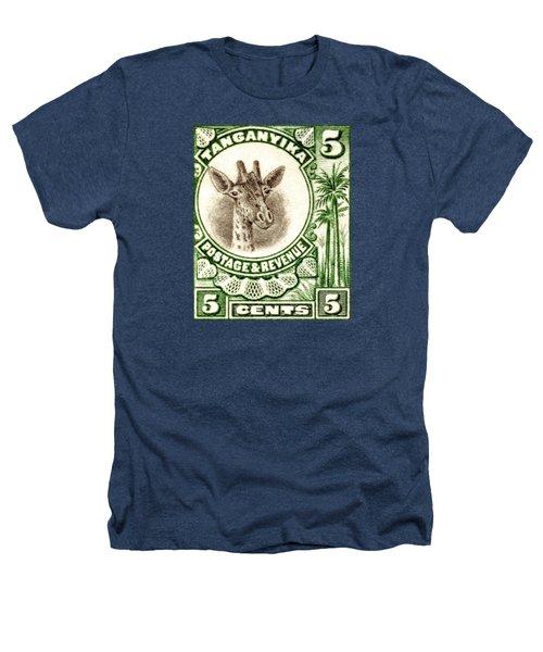 1922 East African Giraffe Stamp Heathers T-Shirt