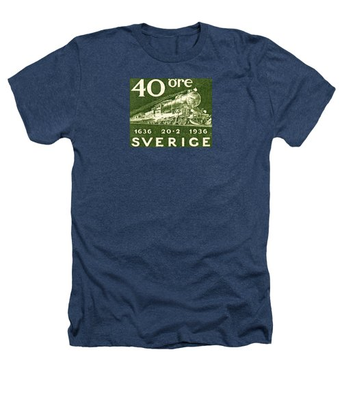 1936 Swedish Railroad Stamp Heathers T-Shirt by Historic Image