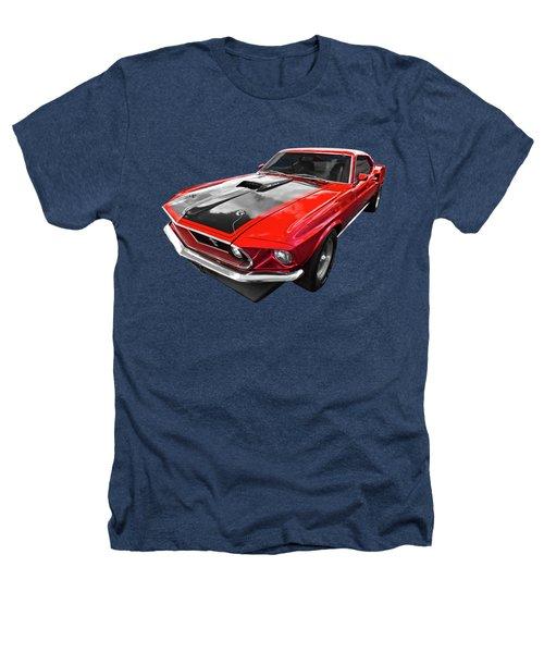 1969 Red 428 Mach 1 Cobra Jet Mustang Heathers T-Shirt