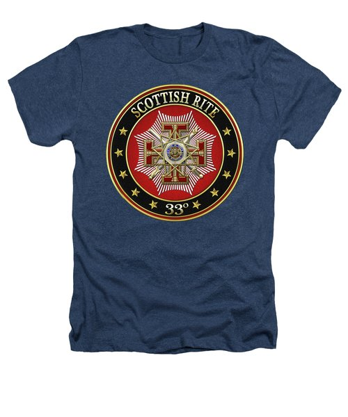 33rd Degree - Inspector General Jewel On Black Leather Heathers T-Shirt