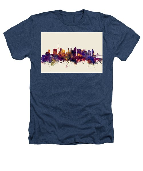 Tokyo Japan Skyline Heathers T-Shirt by Michael Tompsett