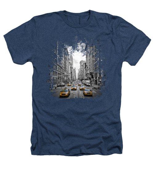 5th Avenue Nyc Traffic II Heathers T-Shirt by Melanie Viola