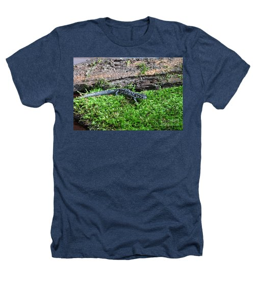 Slimy Salamander Heathers T-Shirt by Ted Kinsman