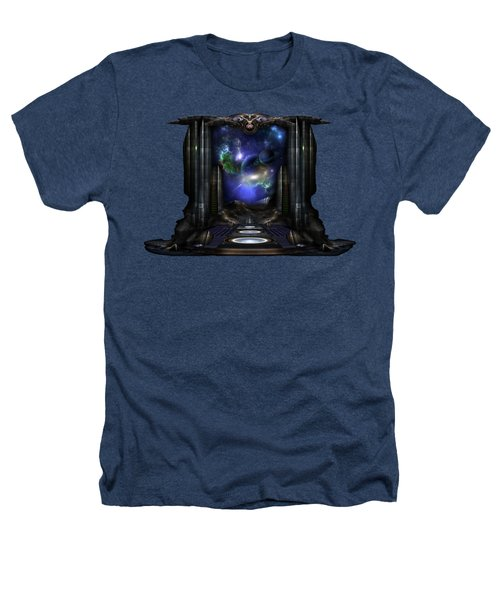 89-123-a9p2 Arsairian 7 Reporting Fractal Composition Heathers T-Shirt