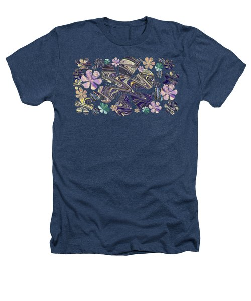 A Field Of Whimsical Flowers Heathers T-Shirt