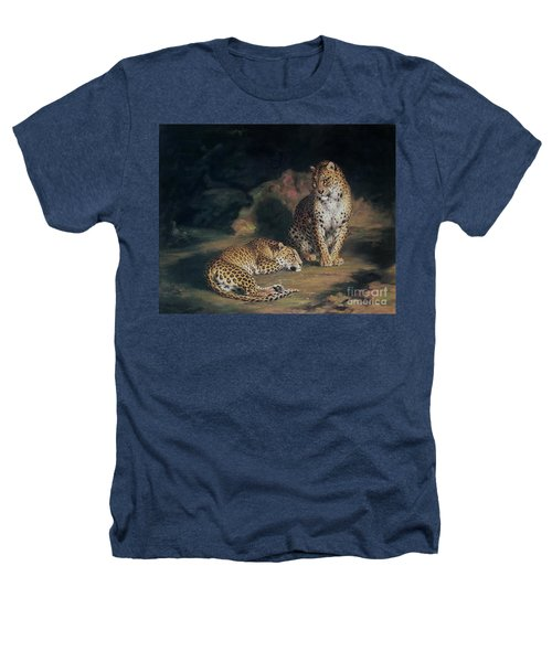 A Pair Of Leopards Heathers T-Shirt by William Huggins