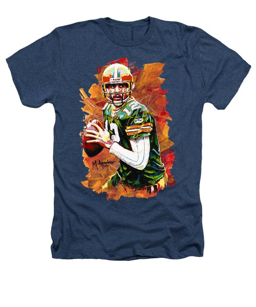 Aaron Rodgers Heathers T-Shirt by Maria Arango