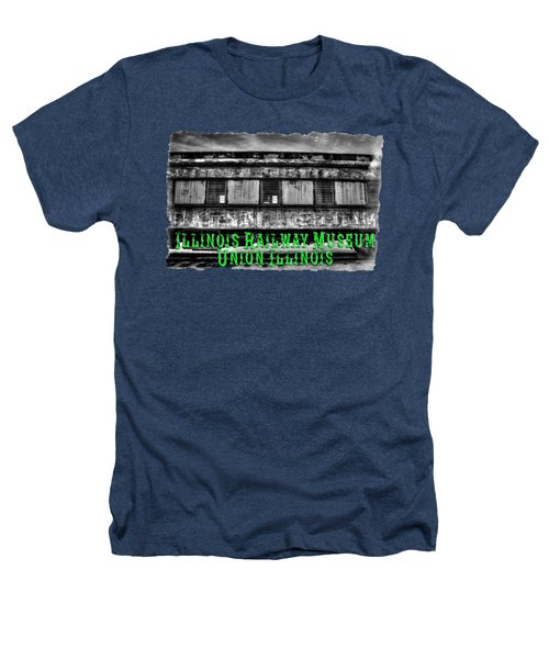 Abandoned Circus Transport Car Heathers T-Shirt by Roger Passman