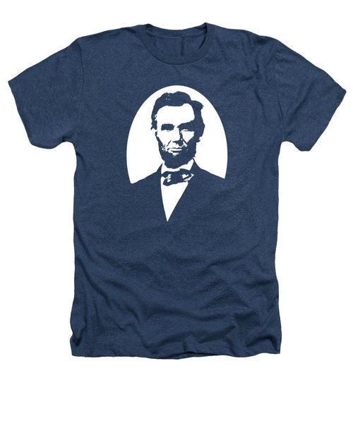Abraham Lincoln - Black And White Heathers T-Shirt by War Is Hell Store