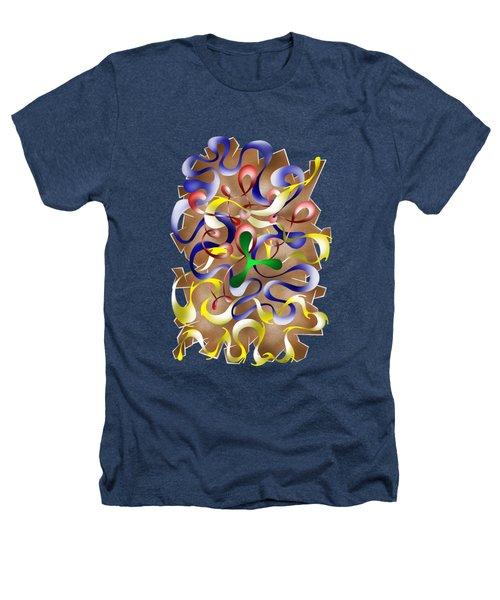 Abstract Digital Art - Jamurina V2 Heathers T-Shirt by Cersatti