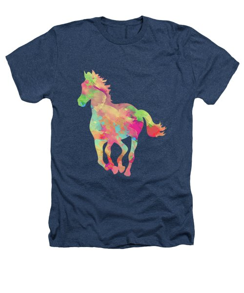 Abstract Horse Heathers T-Shirt by Amir Faysal