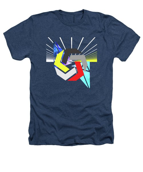 Abstract Space 6 Heathers T-Shirt by Russell K