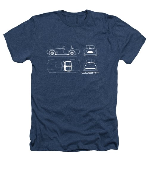 Ac Cobra Blueprint Heathers T-Shirt by Mark Rogan