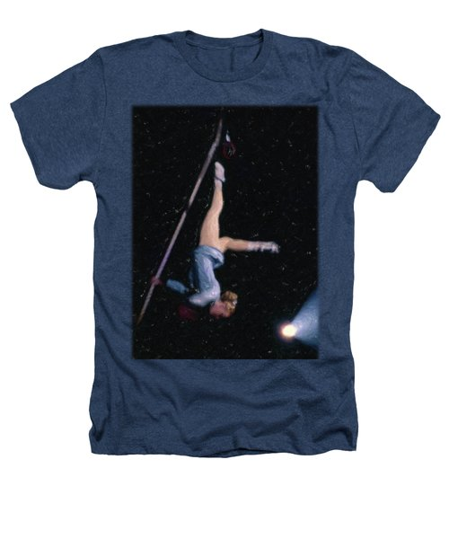 Aerial Acrobat Heathers T-Shirt by Jon Delorme